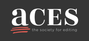 ACES the society for editing logo